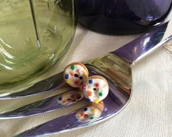 Sprinkled Donuts Stud Earrings