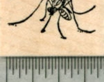 Tiny Mosquito Rubber Stamp A30220 Wood Mounted