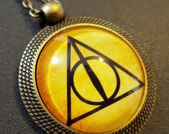 Steampunk Inspired Deathly Hallows Necklace