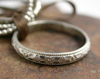 Sterling Silver Patterned Band Ring