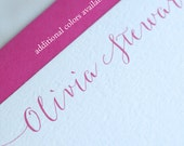 Personalized Note Cards, Set, Modern Calligraphy, Stationery, Flat Note Cards, Bridesmaids' Gift