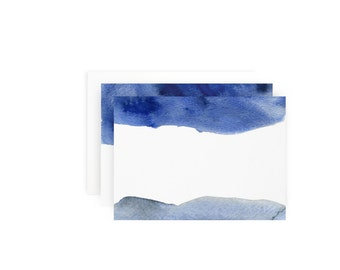 Blue Wash Note Card