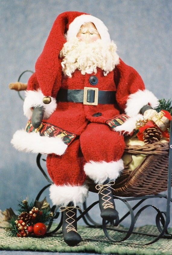Mailed Cloth Doll Pattern - Traditional 22 in Christmas Santa