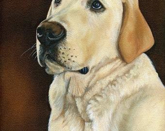 Pet Portrait, custom artwork of your pet, Pet Lover Gift, custom cat or dog size 8 x 10