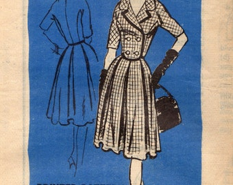 1960s Mail Order A745 Vintage Sewing Pattern Designer Dress, Afternoon Dress Size 14 Bust 34