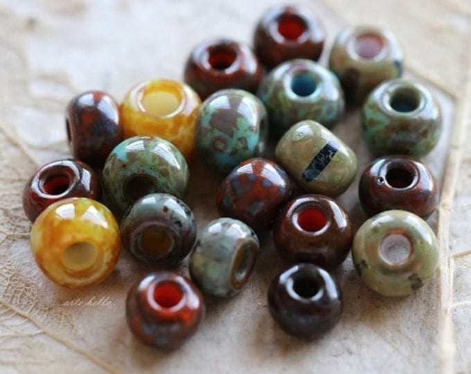 SEED BEAD MIX No. 5236 .. 20 Picasso Czech Glass Seed Beads Size 2/0-3/0 (5236-20)