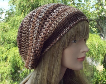 Slouchy Beanie, Womens Crochet Hat, Chameleon Multicolor Slouch Beanie, Oversized Hipster Hat, Slouch Hat, Baggy Beanie Boho Slouchy Hat