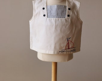 1940s Nautical Top~Size 18 Months to 2t