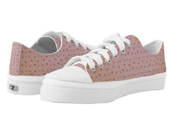 Sneakers - Old Pink Hearts