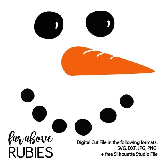 Snowman Face With Carrot Nose Svg Amp Dxf Digital Cut File For