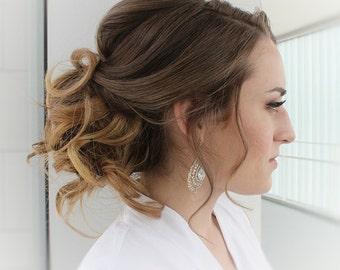 Crystal Earrings, Gold Earrings, Wedding Jewelry, Gold Bridesmaid Jewelry, Dangle Earrings, Silver Earrings