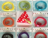 Lecien Jelly Zipper, sliders and triangle purse pattern - per package - choose a color