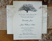 RESERVED FOR BEN - 75 Elegant Savannah Live Oak Tree Wedding Invitation Suites