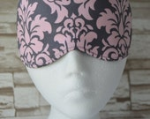 Pink Gray Damask Eye Mask for Sleep, Travel, etc. ~ READY TO SHIP ~ Gift for Her, Gift for Him, Teachers, Friends, All Occasion Gifts