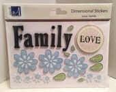 Adornit, Carolee's Creations, Love Family, 3D Embellishment, Scrapbooking, Cardstock Dimensional Stickers, Card, Tag, Crafting Supply