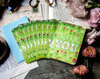 Thank You Notecard Set  | Blank Cards | Stationery | Katie Daisy