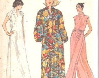 Vogue 7036 1970s Misses Pullover Dress Tunic and Pants Pattern Very Easy Womens Vintage Sewing Pattern Size 12 Bust 34 UNCUT