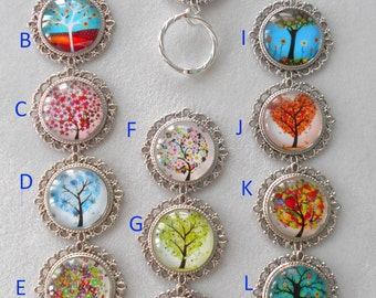 Magnetic or Pin ID Badge Holder or  Reading /Sun Glasses  Holder  Trees, Trees and More Trees!  Limited Quantities