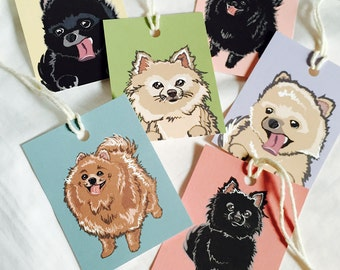 Pomeranian Gift Tags - Set of 6