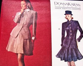 VOGUE Jacket, Skirt, Slip Pattern, Donna Karan Pattern, Vogue American Designer Size 12 14 16 UNCUT 1990s Womens Sewing Patterns