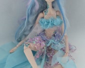 DUSK, porcelain puppet style jointed faerie doll, handmade in the USA