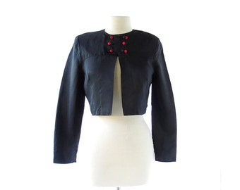 Vintage 40s Top | Nevermore | Black Jacket | 40s Jacket | XS