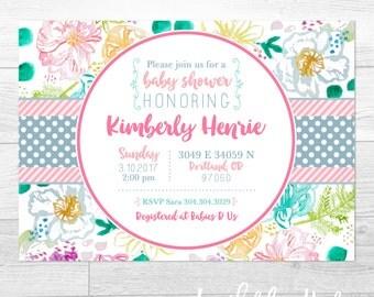 Baby Love - Custom Baby Shower Invitation, Bridal Shower Invitation