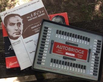 "1950 Auto Bridge Game, ""Play Bridge, Learn Alone"""