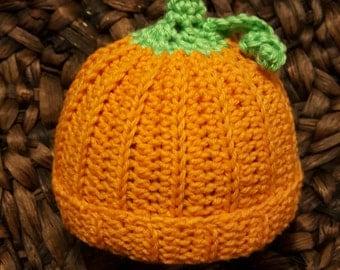 Made to order , newborn,  pumpkin hat,baby boy, baby girl, fall, photography, photo prop,  crochet