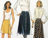 Vogue 9291 - Skirts In Three Styles Pattern - Larger Size, Size 14 16 18 - Waist 28 - 32 - Office, Dressy, Business, A-Line, UNCUT