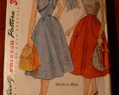 1952 Sewing Pattern Simplicity #3918 Size 16 Bust 34  Misses Bodice, Skirt & Short Jacket Cut