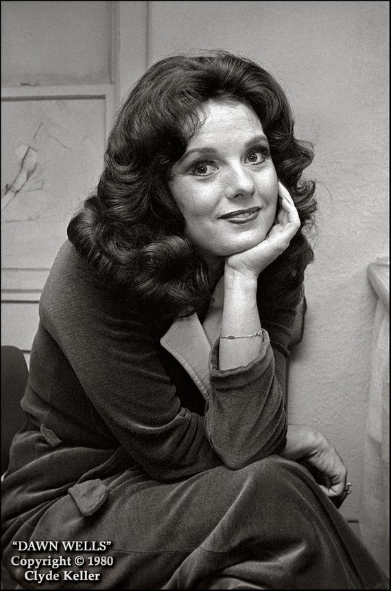 Actress DAWN WELLS, Clyde Keller photo, Fine Art Print, Black and White, aka Mary Ann, Gilligan's Island, vintage 1980