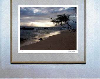 surf decor hawaiian decor hawaiian art surf board surf art Maui Beach Sunset Fine Art Photo Hawaii By Michael Verlangieri