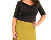 Comfy Skirt Knee Length - XL - DIJON - Hemp/Organic Cotton/Lycra