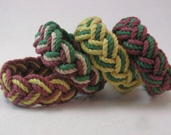 mixed color rope bracelets traditional turks head knot bracelet nautical sailor bracelet rope jewelry fisherman bracelet 3952