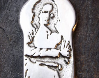 Babaji - Pewter Pendant - Hindu, Shri Haidakhan Babaji, Human manifestation of the Divine. (Om Namah Shivaya Chant, Truth Simplicity Love)