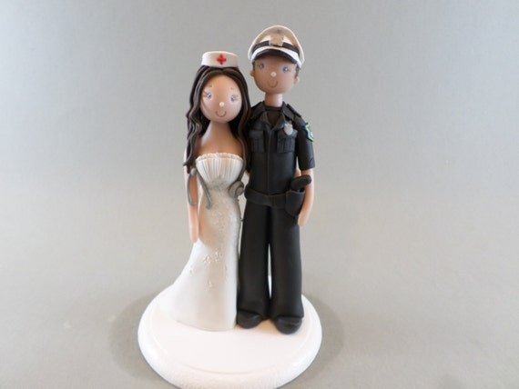 police officer and nurse wedding cake topper wedding cake topper personalized officer amp 18671