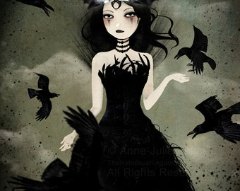 The Crow Queen 8/100 - Deluxe Edition Print