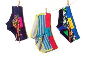 Retro Stripe Terry Dolphin Shorts
