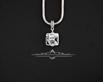 Peahead European Style  photo portrait Charm/pendant