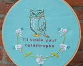 Fowl Talk. Shakespeare Inspired Hand Embroidery pattern PDF