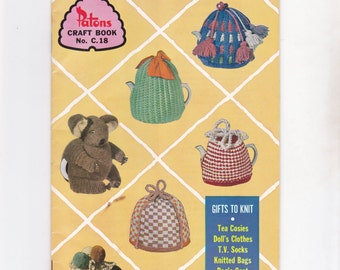 Vintage Patons Pattern Booklet Craft Book Gifts to Knit c18  Australian Magazine C.18