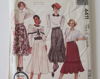 McCalls 4411 Vintage 1989 Gored Skirt Pattern