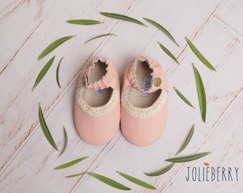 LUCY Baby Girl Shoes in Pink Leather