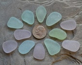 Genuine Sea Glass, Beach Glass - Beautiful Pendants - Lavender, Blue, UV, Seafoam - Bulk Seaglass Jewelry Supply