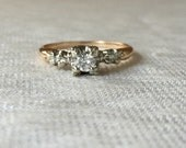 1940s Vintage Diamond Engagement Ring