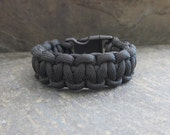 Black Paracord Bracelet -   Jewelry that Gives Back, Cord Bracelet - Survival Bracelet -  Survival Paracord Bracelet