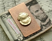 Diver Money Clip Copper Money Clip Steampunk Money Clip Victorian Deep Sea Dive Helmet Men's Gifts Nautical Gifts For Men Father's Day NEW!