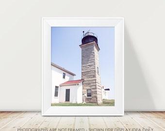 Modern Lighthouse Photography, Rhode Island, Lighthouse Picture, Geometric, Historic Lighthouse, Nautical Decor, Pastel, Seaside, Coastal