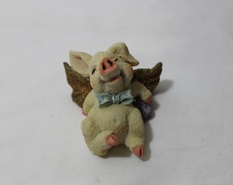 Vintage Pig Angel Figurine